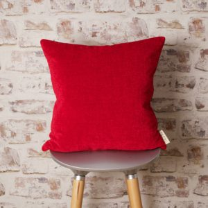 red pillow by lucy fry design