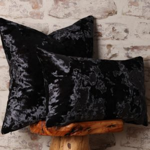Dark Gray Crush Velvet Pillows